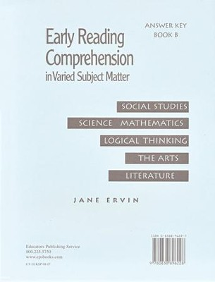 Early Reading Comprehension, Book B, Answer Key   -     By: Jane Ervin