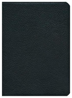 NKJV Clarion Reference Bible--goatskin leather, black  -