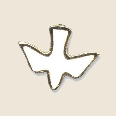 White Dove Lapel Pin   -