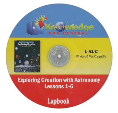 Exploring Creation with Astronomy Lessons 1-6 Lapbook CD-Rom  -