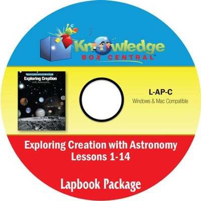 Apologia Exploring Creation with Astronomy Lapbook Package (Lessons 1-14) PDF CD-ROM   -