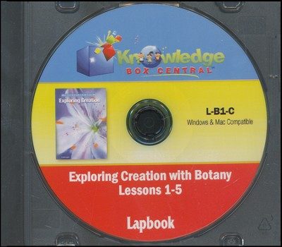 Exploring Creation with Botany Lessons 1-5 Lapbook  CD-Rom  -