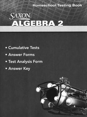 Saxon Math Algebra 2, 4th Edition Homeschool Testing Book  -
