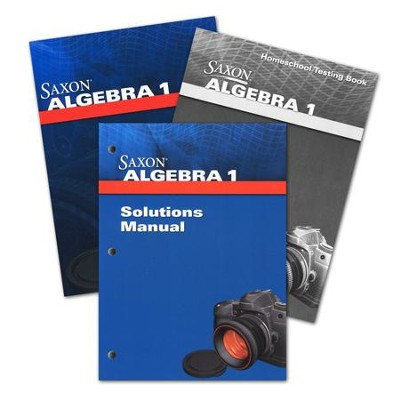 Saxon Math Algebra 1 Homeschool Kit with Solutions Manual, Fourth Edition  -