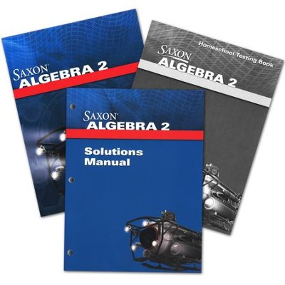 Saxon Math Algebra 2, 4th Edition Homeschool Kit with Solutions Manual  -