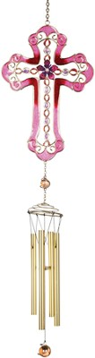 Fuchsia Cross Windchime   -