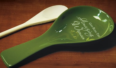 God Bless this Amazing Woman Spoon Rest  -