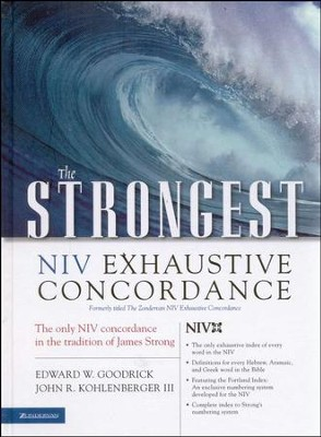 The Strongest NIV Exhaustive Concordance - Slightly Imperfect   -