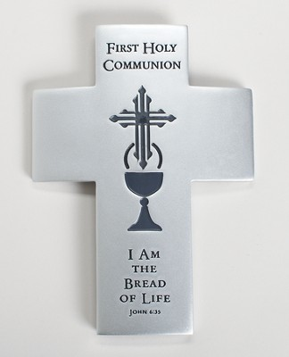 First Communion Wall Cross, I Am the Bread of Life  -