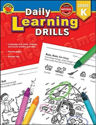Daily Learning Drills, Grade K   -