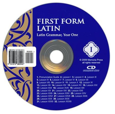 First Form Latin Pronunciation CD   -     By: Cheryl Lowe
