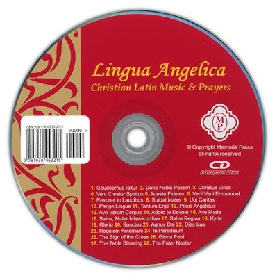 Lingua Angelica, Music CD   -