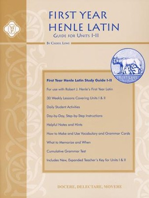 Henle Latin 1 Guide Units I-II   -     By: Cheryl Lowe