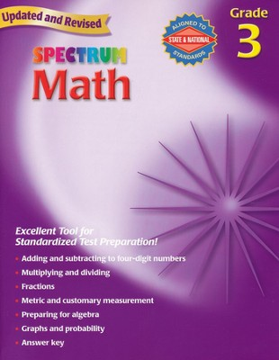 Spectrum Math, 2007 Edition, Grade 3  - Slightly Imperfect  -