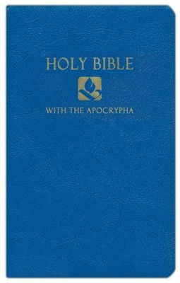 NRSV Gift & Award Bible with Apocrypha, Imitation leather, Blue   -
