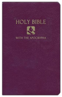 NRSV Gift & Award Bible with Apocrypha, Imitation leather, Royal purple  -