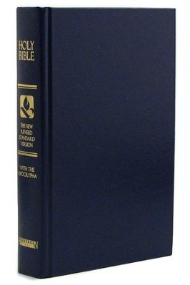 NRSV Pew Bible with Apocrypha, Hardcover, Blue   -