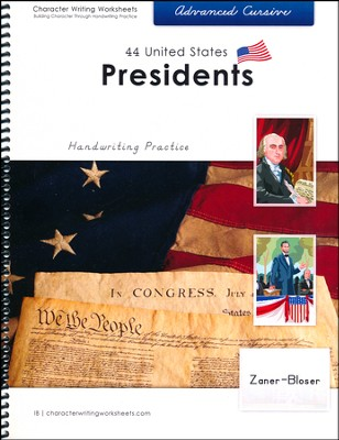 44 United States Presidents: Advanced Cursive,  Zaner-Bloser Edition  -     By: Holly Shaw, Wendy Shaw