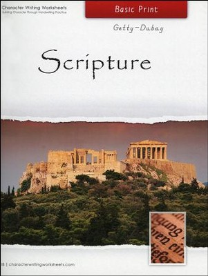 Scripture: Basic Print, Getty-Dubay Edition   -     By: Wendy Shaw, Holly Shaw