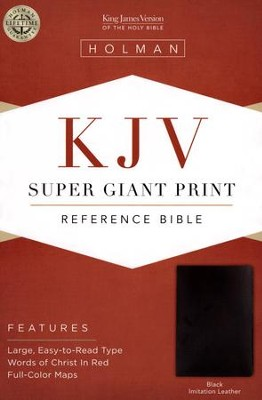 KJV Super Giant Print Reference Bible, Imitation leather, black  -