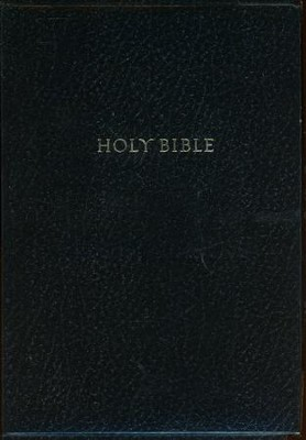 KJV Super Giant Print Reference Bible, Imitation leather, black - Slightly Imperfect  -