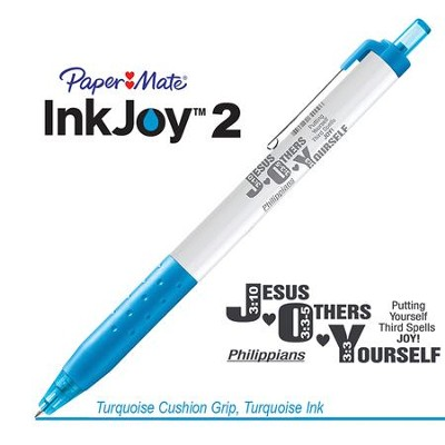 Jesus Others Yourself Pen, Turquoise  -