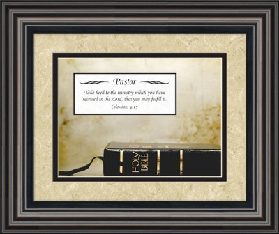 Pastor Framed Art, Matthew 28:19  -