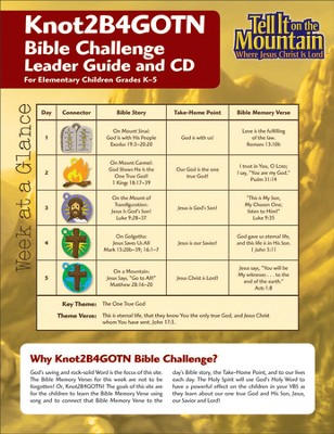 Knot 2B4GOTN Bible Challenge Leader Guide with CD  -