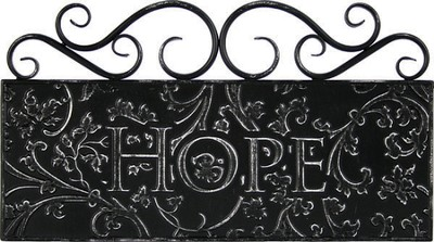Hope Metal Wall Decor  -