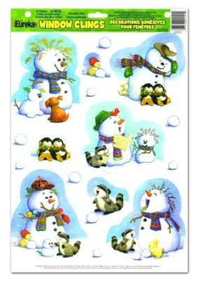 Playful Snowmen Window Clings   -