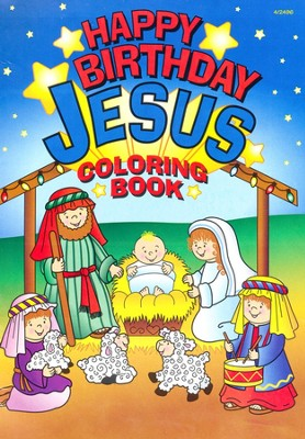 Happy Birthday Jesus Coloring Set, 12 Sets   -