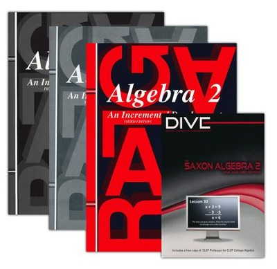 Saxon Algebra 2 Kit & DIVE CD-Rom, Third Edition   -