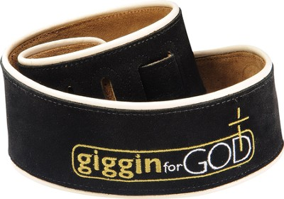 Guitar Strap, Giggin for God, Black  -