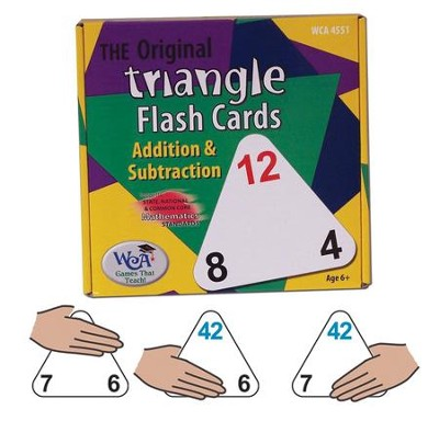 Original Triangle Flash Cards: Addition & Subtraction   -