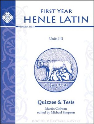 Henle Latin 1 Quizzes & Tests, Units 1-2   -     By: Robert Henle