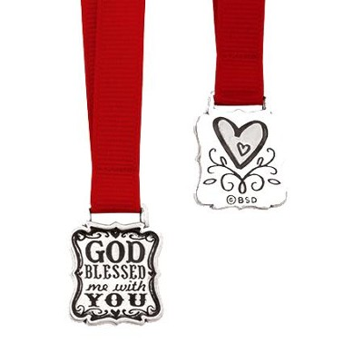 God Blessed Me With You Ribbon Bookmark  -