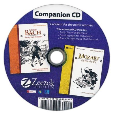 Sebastian Bach and Mozart Companion CD Audio MP3 CD   -