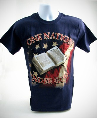 One Nation T-Shirt, Navy, Small (36-38)   -