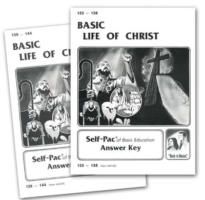 High School Bible Elective: Life of Christ SCORE Keys 133-144  -