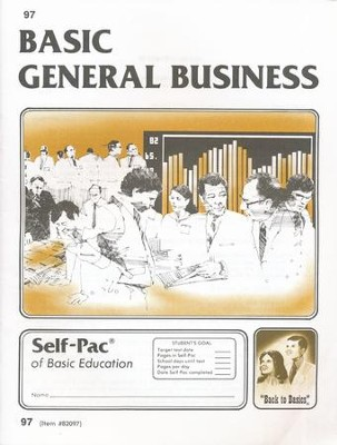 High School Business Elective: General Business PACEs 97-108  -