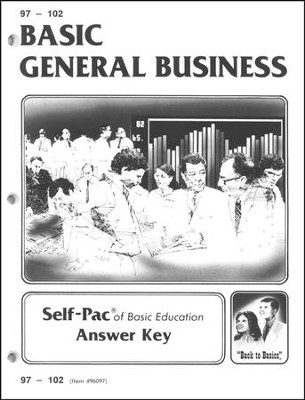 High School Business Elective: General Business SCORE Keys 97-108  -