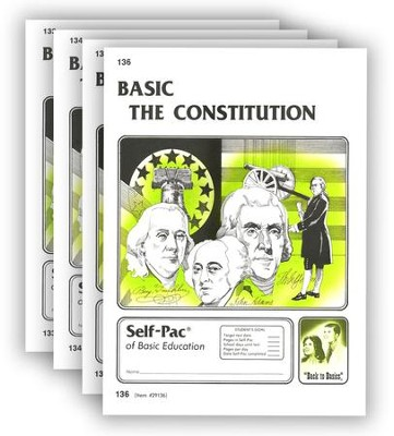 High School Government Elective: The Constitution PACEs 133-136  -