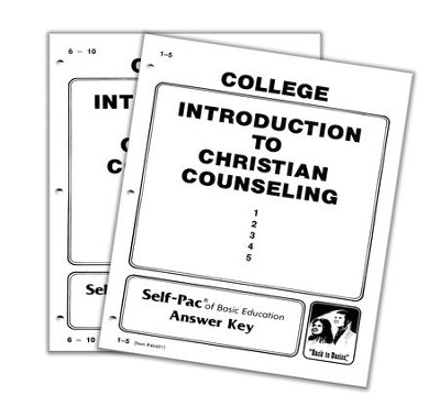 Advanced High School or College Elective: Introduction to Christian Counseling SCORE Keys 1-10  -