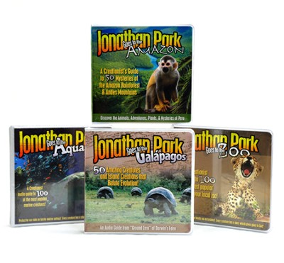 Jonathan Park Animal Guide Audio CD Pack (4 Volumes)  -