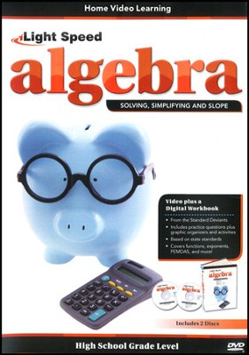 Light Speed Algebra: Solving, Simplifying and Slope 2-DVD Set  -