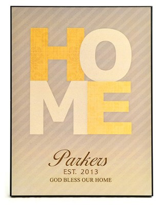 Personalized, Large Plaque, Home   -