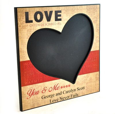 Personalized, Chalkboard, Love   -