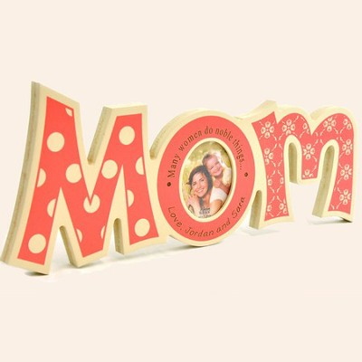 Personalized, Word Photo Frame, Mom   -
