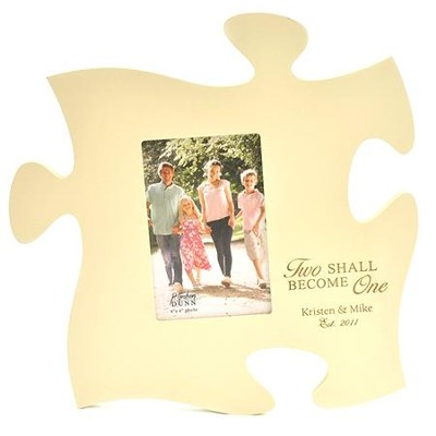 Personalized, Puzzle Photo Frame, Ivory   -
