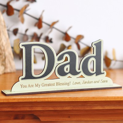 Personalized,  Word Silhouette, Dad   -